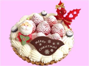 クリスマスケーキ-レアチーズのタルト